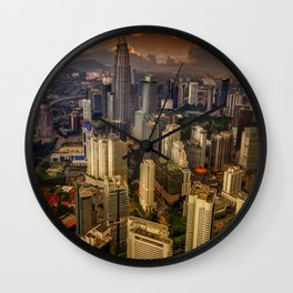 Kuala Lumpur City Sunset Wall Clock