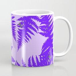 Decorative Grape Purple Ferns Glen on Lilac Color Coffee Mug