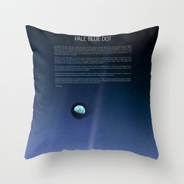 Pale Blue Dot — Voyager 1 (2020 revision), quote Throw Pillow