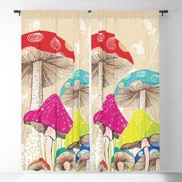 Magical Mushrooms Blackout Curtain