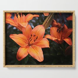 Orange Lily Serving Tray