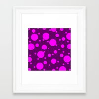 polka dots Framed Art Prints featuring Polka Dots by Lyle Hatch