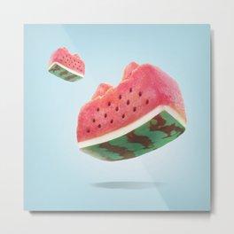 XiaoTieJun Watermelon Metal Print