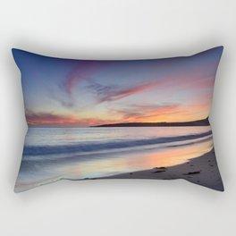 """Bolonia beach at sunset"" Rectangular Pillow"