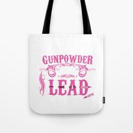 Gunpowder and Lead Graphic T-shirt Tote Bag