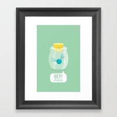 Hey! Listen Framed Art Print