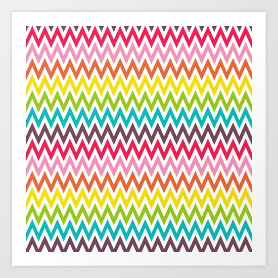 Chevron Rainbow Art Print