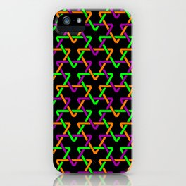 Mardi Gras Triangles iPhone Case