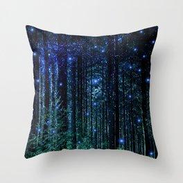 Magical Woodland Throw Pillow