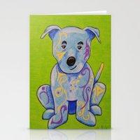 pitbull Stationery Cards featuring Pitbull by K.ForstnerArt