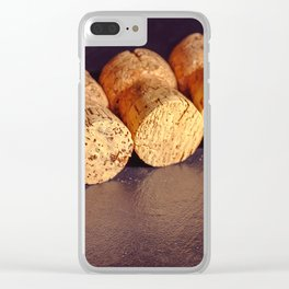 An amateur cork collection Clear iPhone Case