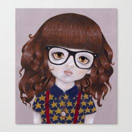 Margot- Hipster Girl Canvas Print