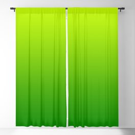 Bright Chartreuse Green Ombre Blackout Curtain