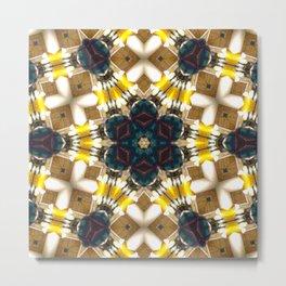 Yellow Kaleidoscope Metal Print