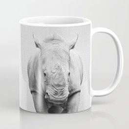 Rhino 2 - Black & White Coffee Mug