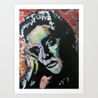 elvis Art Prints featuring Elvis by Matt Pecson