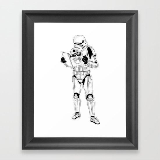 Stormtrooper Empire  Framed Art Print