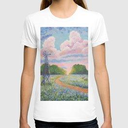 Blue bonnet field T-shirt