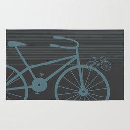 Grey Bike by Friztin Rug