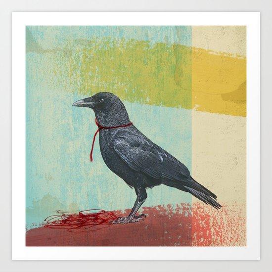 freedom raven Art Print