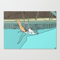 diver Canvas Prints featuring Diver by Highly Anticipated