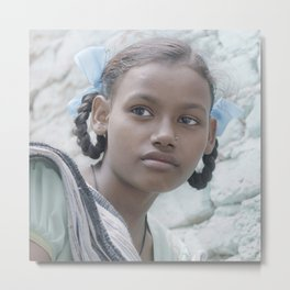 Soft Eyes Metal Print