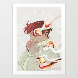 A Calm Flame Art Print