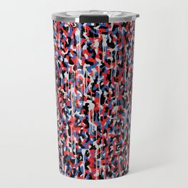 Graffiti style pattern - Berlin subway train seat camouflage design Travel Mug