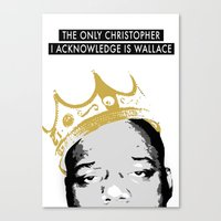 biggie Canvas Prints featuring Biggie by JulieAaland