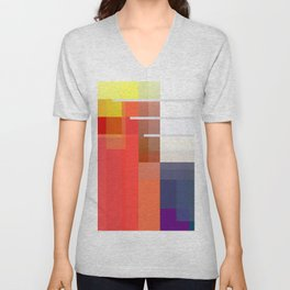 Abstract Composition 647 Unisex V-Neck