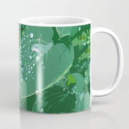 Green leaves with morning dew Coffee Mug
