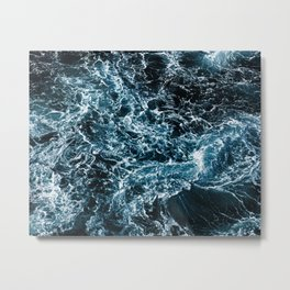 Wrath of the Dark Tempest Ocean Metal Print