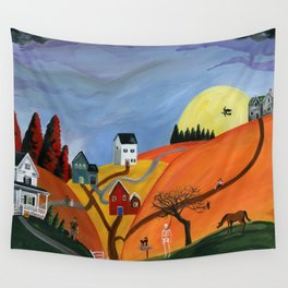 Hilly Haunting Wall Tapestry