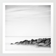 Between a rock Art Print