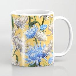 Mums Pattern  |  Yellow-Blue-Cream-White Coffee Mug
