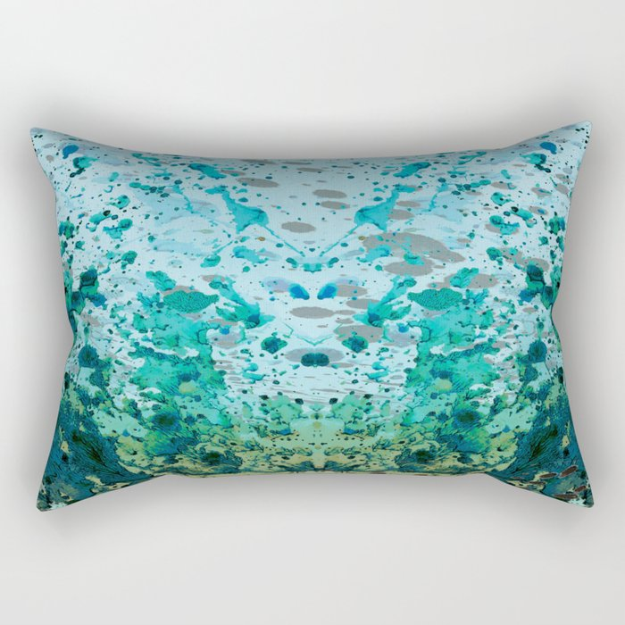 The Lost City- Landscape Painting  Rectangular Pillow