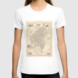 Vintage Map of Belfast Ireland (1851) T-shirt