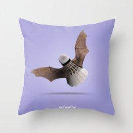 Batminton B Throw Pillow
