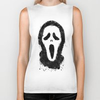 scream Biker Tanks featuring Scream by Bill Pyle