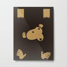 Hanging Monkey Metal Print
