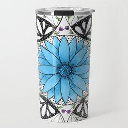 Floral Mandala Travel Mug