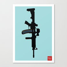 Art not War - Blue Canvas Print