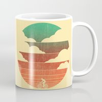 cycling Mugs featuring Go West (cycling edition) by Picomodi