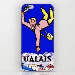 Vintage Valais Switzerland Travel Poster iPhone Skin