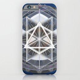 Merkaba Mandala Indigio Vision Print iPhone Case