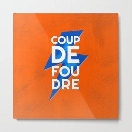 Coup de Foudre / Blue Lightning Metal Print