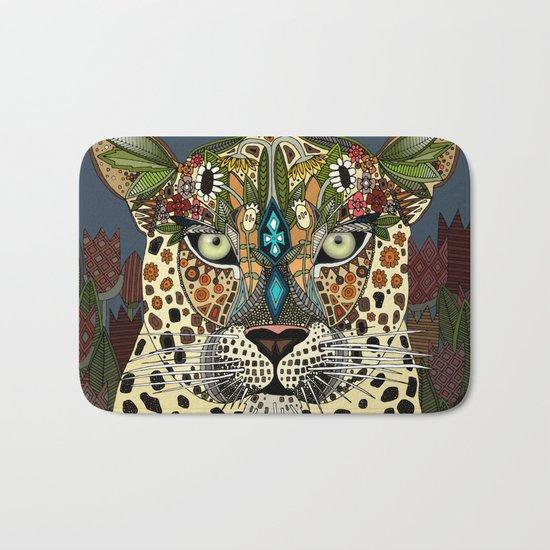 leopard queen blue Bath Mat