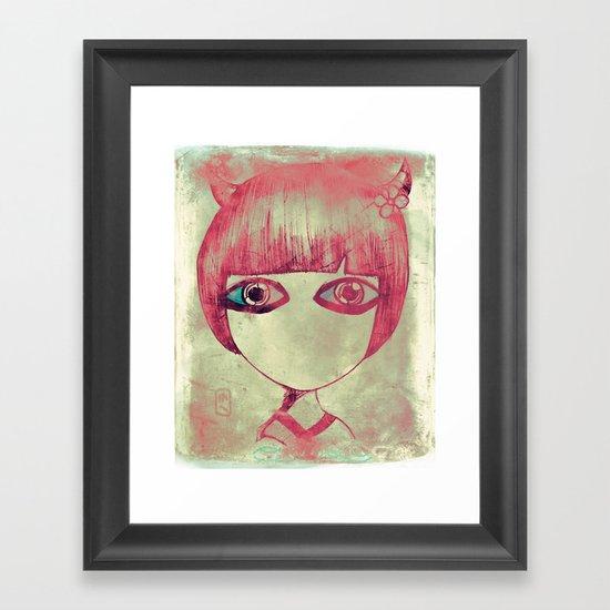 dark side Framed Art Print