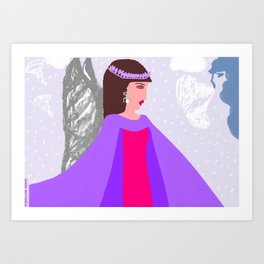 IRIS AND THE TEMPEST Art Print