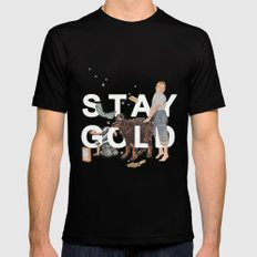 Stay Gold MEDIUM Mens Fitted Tee Black